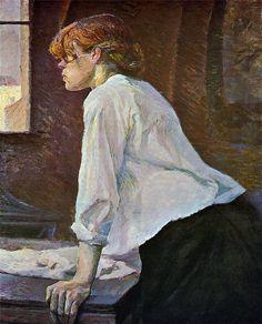 Postimpresionismo, Lavandera de Henri Toulouse-Lautrec. 1886