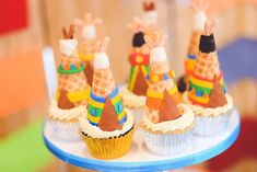 Twins Pow Wow themed birthday party via Kara's Party Ideas KarasPartyIdeas.com Printables, invitation, cake, cupcakes, decor, food, favors, recipes, and more! #powwow #indianparty #nativeamerican #twinparty (11)