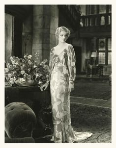 Myrna Loy, Consolation Marriage, 1931 (costume by Max Rée)  Uploaded By www.1stand2ndtimearound.etsy.com