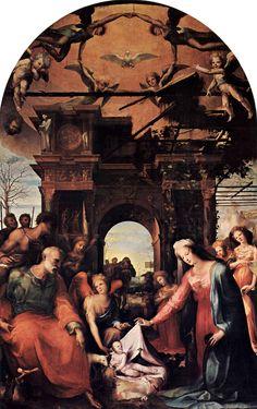 Domenico Beccafumi - Natività di Gesù - 1523-1524 - olio su pannello - Chiesa San Martino, Firenze