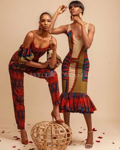 New York based tribal fashion brand Queen E Collection celebrates fashion forward women and men through sophisticated yet simple apparels African Inspired Fashion, African Print Fashion, Tribal Fashion, African Fashion Dresses, Ankara Fashion, Africa Fashion, African Attire, African Wear, African Dress