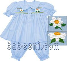 Smocked Baby Pyjamas. adorable