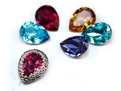 "SWAROVSKI ELEMENTS Fancy Stone 4320 ""Pear-shaped"" drop bezel - Step by Step Tutorial"