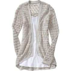 Old Navy Women's Openfront Crochet Cardigans found on Polyvore