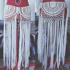 Just finished another gypsy, crochet, tassel skirt. ✌️