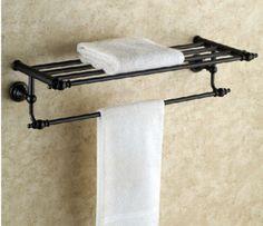 Euro Elegant Bathroom Hotel Oil Rubbed Bronze Shelf Towel Rack Holder Towel Bar | eBay