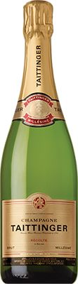 Champagne Taittinger Brut Millesime 2004 is a fifty-fifty blend of Chardonnay and Pinot Noir