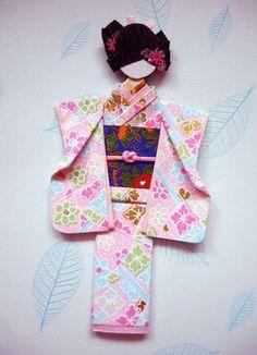 Japanese origami doll 10