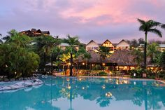 "Planning a vacation for the whole family? This oceanfront resort in Fiji has something for everybody, from two swimming pools to a day spa, five restaurants and bars, and a 24-hour fitness center. Desperate for some ""me"" time? Kids' clubs will keep your little ones busy while you decompress."