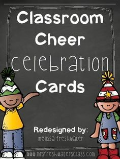 These adorable Classroom Celebration Cards will get your kiddos engaged and motivate Classroom Cheers, Future Classroom, Classroom Organization, Classroom Management, Class Management, Behavior Management, Classroom Ideas, Last Day Of School, Beginning Of School