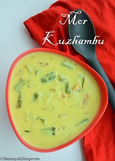 Mor/curd kuzhambu curd used in a traditional way of South Indian style,with its best flavors.