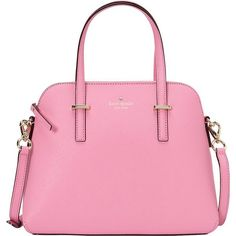kate spade new york Cedar Street Maise Convertible Satchel Satchel ($298) ❤ liked on Polyvore featuring bags, handbags, designer handbags, pink, woven purse, pink satchel handbags, kate spade handbag, handbags purses and purse satchel