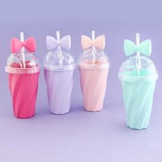 Diamond Ribbon Drinking Cup With Straw Cute Gifts For Friends, Cute Water Bottles, Baby Bottles, Cup With Straw, Cute Cups, Kawaii Stationery, Kawaii Shop, Pretty Pastel, Candy Colors