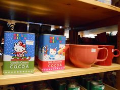 For the Hello Kitty lover in your life some special Hello Kitty cocoa with a colorful Fiestaware mug. #HelloKitty #Fiestaware