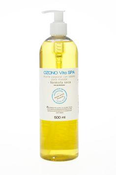 "Aceite corporal con ozono, fórmula ""seca"""