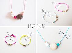 geo / circular wooden jewellery