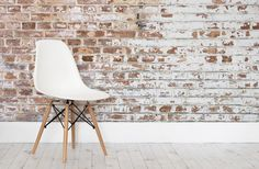 Create a fresh industrial look in your home with this easy to install painted white brick wall mural, a rustic design. Buy now with fast & FREE UK delivery! Painted Brick Walls, White Brick Walls, Plaster Walls, Red Walls, Paint Brick, Brick Wallpaper Mural, White Brick Wallpaper, Wallpaper Gallery, Photo Wallpaper