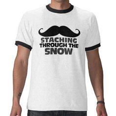 Staching through the Snow Tee Shirts