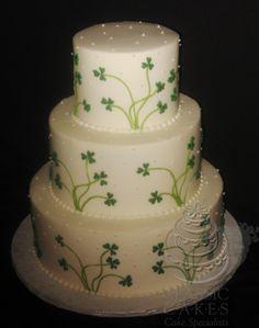 Indescribable Your Wedding Cakes Ideas. Exhilarating Your Wedding Cakes Ideas. Wedding Cake Cookies, Wedding Cake Decorations, Wedding Cake Designs, Wedding Cake Toppers, Wedding Ideas, Irish Cake, Wooden Cake Toppers, Square Wedding Cakes, Love Birds Wedding