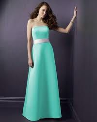 Tiffany Blue Bridesmaids Dress with the silver band. Love.