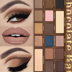Super neat cut crease with semi sweet palette. Cut Crease Eyeshadow, Cut Crease Makeup, Gel Eyeliner, Eyeliner Pencil, Liquid Eyeshadow, Gold Eyeshadow, Liquid Liner, Eyeshadows, Eyeshadow Palette