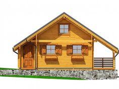 Mazurek IX z dobudówką - Domki ogrodowe - DREWNEX Home Fashion, House Styles, Home Decor, Cabin, Build House, Decoration Home, Room Decor, Home Interior Design, Home Decoration