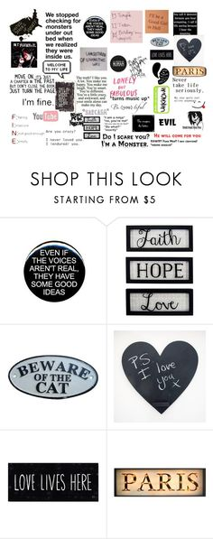 """""""sayings and stuff i like #1"""" by rainycatz-12 on Polyvore featuring Hartmann, Love Quotes Scarves, New View and Zone"""