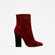 ZARA - WOMAN - VELVET HIGH HEEL ANKLE BOOTS