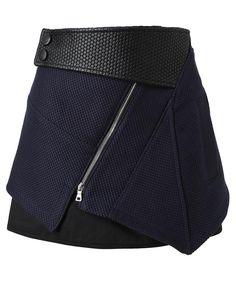 Proenza Schouler, layered wrap cotton miniskirt