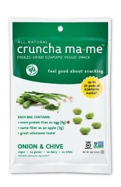 Cruncha Ma-Me: Onion & Chive Edamame Veggie Snack. http://affordablegrocery.com