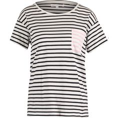 Black Contrast Pocket T Shirt - Tops - Clothing - Women - TK Maxx