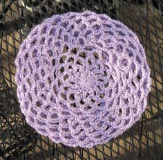 I love this crochet beret, it does up nicely with Simply Soft yarn. Use crochet flower with gold or silver button accents.