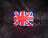 bijoux bague drapeau rectangle grande bretagne royaume uni