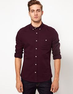 ASOS Twill Shirt in Deep Purple love the color!