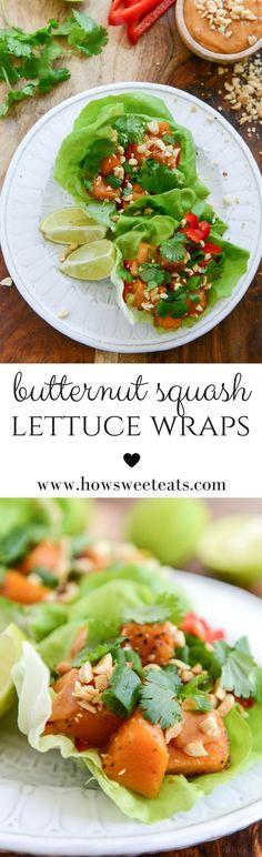 Thai Butternut Squash Lettuce Wraps I http://howsweeteats.com /howsweeteats/