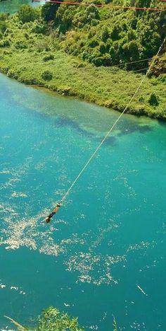 Bungy, Lake Taupo, New Zealand