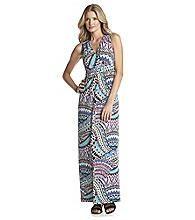 Notations® Develop Placed Print Surplus Maxi Dress