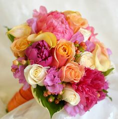 Vivid colors are so pretty.  Would be great for spring/summer wedding.