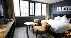 Double rooms at The Dean hotel on Harcourt Street, Dublin Huge bed, power shower, Smart TV, and loads more. Exclusive deals on the Official Website. Dublin Hotels, Hotel Room Design, Hotel Decor, Hotel Suites, Hotel Lounge, Hotel Amenities, Hotel Pool, Hotel Spa, Das Hotel