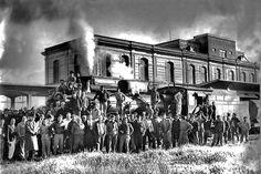 ESTACIÓN  … Meridiano V, 1940.  (foto gentileza Archivo Fotográfico Ministerio de Infraestructura)