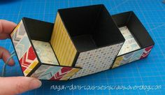 Tuto & Astuce du mois de septembre - Le blog de la boutique Origami, D Craft, Craft Projects, Card Tutorials, Mini Albums, 3 D, Stampin Up, Decorative Boxes, Wraps