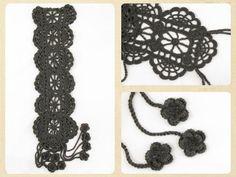 ladies summer hand crochet scarf