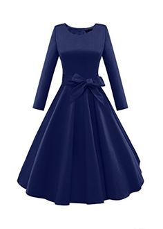iLover Women 1950s 3/4 Sleeve Vintage Rockabilly Large Swing Dress (XXXL, Blue). 95% Cotton, 5% ELASTANE. High Quality Stretch Fabric. Classic And Iconic Style That Will Never Be Out Of Fashion. See Product Description Below For Size Information. It's great vintage dress for daily casual, formal party, dating, banquet, special occasion and so on.