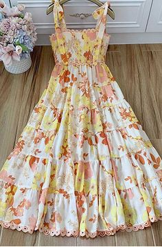 Toddler Maxi Dresses, Girls Maxi Dresses, Casual Dresses, Fashion Dresses, Floral Dress Outfits, Sunmer Dresses, Pretty Dresses, Beautiful Dresses, Western Dresses For Girl
