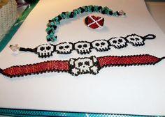 Skull Bracelets by maninthebook - Kandi Photos on Kandi Patterns