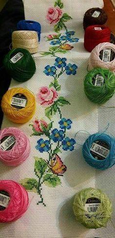 The most beautiful cross-stitch pattern - Knitting, Crochet Love Cross Stitch Letters, Cross Stitch Borders, Cross Stitch Samplers, Cross Stitch Flowers, Cross Stitch Charts, Cross Stitch Designs, Cross Stitching, Cross Stitch Embroidery, Embroidery Patterns