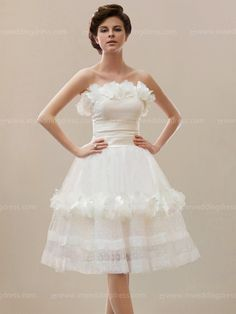 Beach short wedding dress is a gorgeous bridal style that offers clean lines and simple yet stunning details. The beautiful informal bridal dress is given its interesting appeal from the Satin and Dotted Tulle fabric. dress#weddings