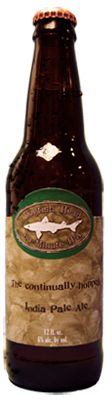 60 Minute IPA by Dogfish Head.  Good example of a strong IPA.  A bit of citrus and a bit of celery with a hint of malty roastness.