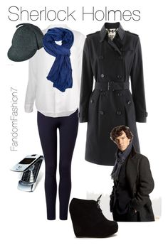 """""""Sherlock Holmes"""" by fandomfashion7 ❤ liked on Polyvore featuring Forever New, Sundry, Burberry and Forever 21"""