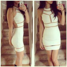 Little white dress - Klaudia Kedziora #cutout #Missguided